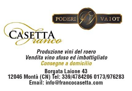 Casetta Franco produzione vini del Roero