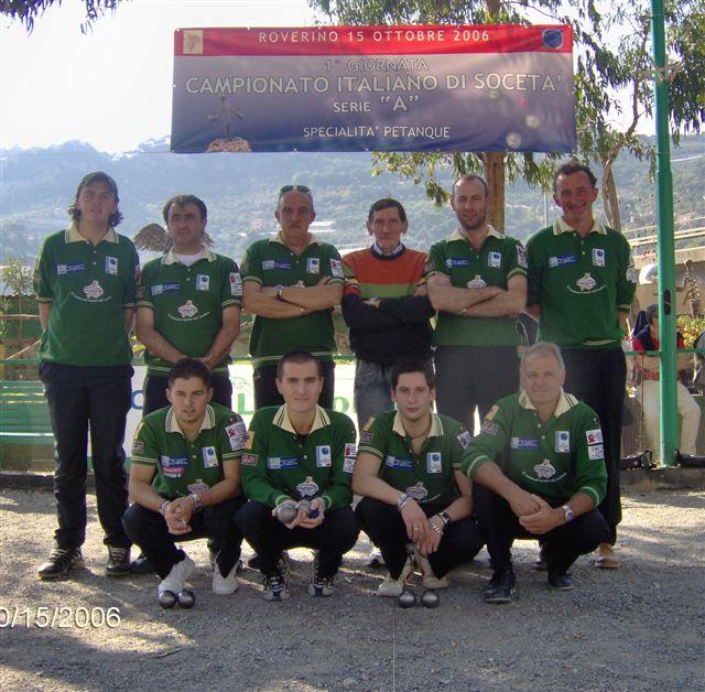 Bocciofila Valle Maira Campionaqto di Società 2006