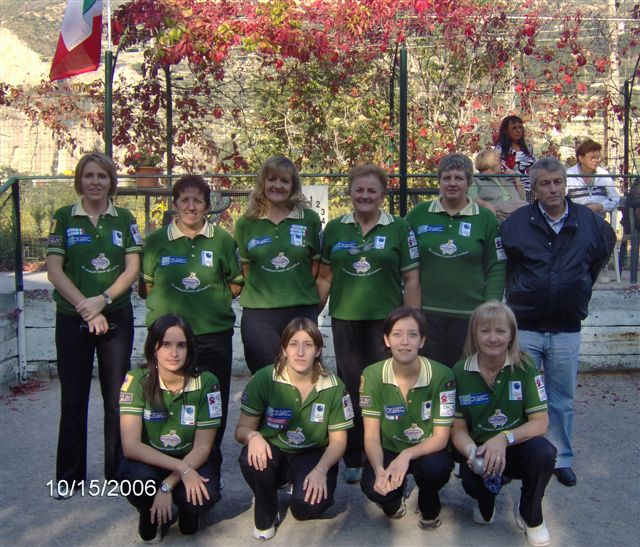 Bocciofila Valle Maira Campionaqto di Società af 2006
